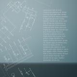 Anordning för gaskokkärl Tekniskt kort med teknikritningen Arkivfoto