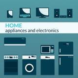 Anordningar för hem- elektronik Arkivbild