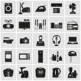Anordningar och detaljerade symboler för elektronik royaltyfri illustrationer