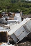 Anordningar på nedgrävning av sopor Arkivbild