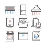 Anordninglinje symbolsuppsättning Vektortecken för rengöringsdukdiagram Infographics stock illustrationer