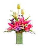Anordnung der künstlichen Blume Lizenzfreies Stockbild