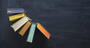 Anordnung für alte Bücher, flache Lage, Freiexemplarraum Lizenzfreies Stockbild