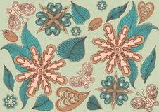 Anordnung für Blumen und Blätter, Blumenauslegung Lizenzfreie Stockbilder