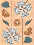 Anordnung für Blumen und Blätter, Blumenauslegung Lizenzfreie Stockfotos