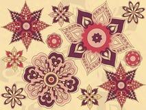Anordnung für Blumen und Blätter, Blumenauslegung Stockfoto
