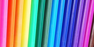 Anordnung für Farbstifte Stockfoto