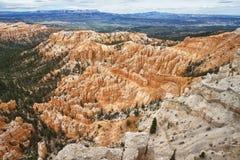 Anordnungen des sedimentären Felsens im bryce Schluchtpark lizenzfreies stockbild