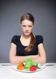 Anorexi en ätaoordning Royaltyfri Fotografi