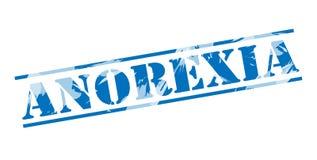 Anorexia błękita znaczek Ilustracji