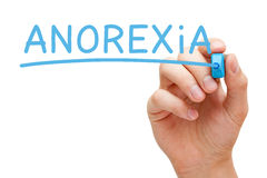 Anorexia Blue Marker Royalty Free Stock Images
