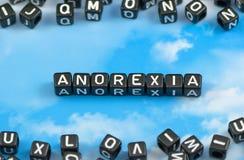 A anorexia da palavra imagens de stock