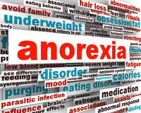 Anorexia disorder design. Psychological trauma Stock Image