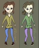 Anorexia dziewczyny wektoru ilustracja Fotografia Royalty Free