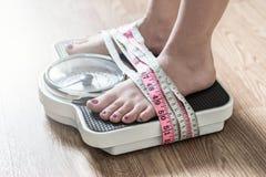 Anorexia e conceito do distúrbio alimentar fotografia de stock