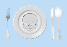 Anorexia nervosa illustration Stock Image
