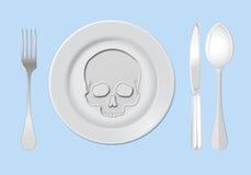 Anorexia nervosa illustration Stock Image