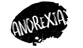 Anorexia rubber stamp. Grunge design with dust scratches. Effects can be easily removed for a clean, crisp look. Color is easily changed Royalty Free Stock Images