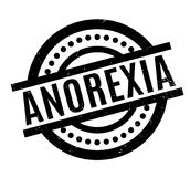 Anorexia rubber stamp. Grunge design with dust scratches. Effects can be easily removed for a clean, crisp look. Color is easily changed Stock Photos