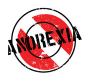 Anorexia rubber stamp. Grunge design with dust scratches. Effects can be easily removed for a clean, crisp look. Color is easily changed Stock Images