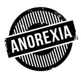 Anorexia rubber stamp Stock Photography