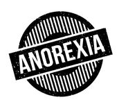 Anorexia rubber stamp. Grunge design with dust scratches. Effects can be easily removed for a clean, crisp look. Color is easily changed Stock Photo