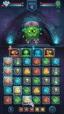 Anormal do GUI da batalha do monstro com cérebro ilustração royalty free