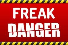 ANORMAL - Fatorando a segurança das chaves da exportação do RSA ataque bandeira de advertência Imagens de Stock