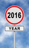 2016 anos Foto de Stock Royalty Free