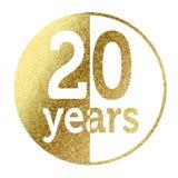 20 anos ilustração stock