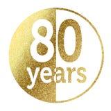 80 anos Imagens de Stock