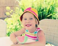 4 anos bonitos da menina idosa Imagens de Stock