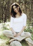 35 anos bonitos da mulher adulta Fotografia de Stock