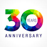 30 anos coloridos ilustração stock
