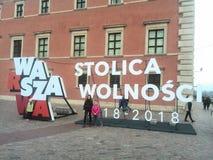 100 anos da liberdade FO Varsóvia fotografia de stock