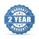 2 anos de ícone da garantia ilustração do vetor