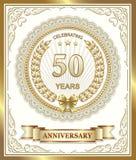50 anos de aniversário Fotos de Stock Royalty Free