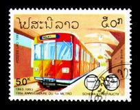 130 anos de aniversário do metro, serie das estradas de ferro, cerca de 1993 Imagem de Stock