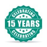 15 anos de aniversário que comemora o ícone Fotos de Stock Royalty Free