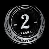 2 anos de anivers?rio Projeto elegante do aniversário ? logotipo ilustração do vetor