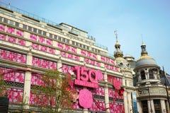 150 anos de Au Printemps, Paris Imagens de Stock