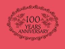 100 anos de cartão do aniversário Fotos de Stock Royalty Free