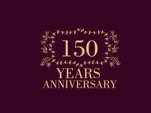 150 anos de cartão do aniversário Imagem de Stock Royalty Free
