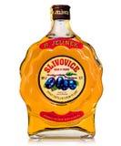 3 anos de espírito checo velho destilado das ameixas Foto de Stock Royalty Free
