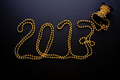 2017 anos de grânulos do ouro Fotos de Stock Royalty Free
