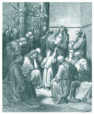 12 anos de Jesus idoso na ilustração do templo Fotos de Stock Royalty Free