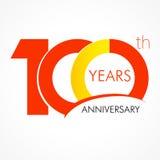 100 anos de logotipo clássico de comemoração velho Fotografia de Stock