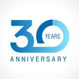 30 anos de logotipo clássico de comemoração velho Fotografia de Stock