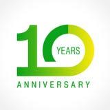 10 anos de logotipo clássico de comemoração velho Foto de Stock Royalty Free