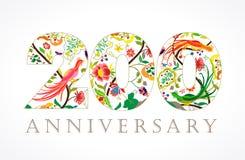 200 anos de logotipo popular de comemoração luxuoso velho Foto de Stock